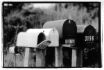 a row of rural mailboxes