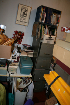 an office is unusable if it is filled with clutter