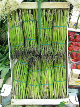 skinny asparagus in italy