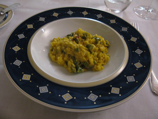 risotto with asparagus and saffron