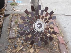 free retro clock left on the sidewalk