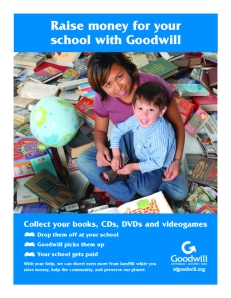 Goodwill of San Francisco fundraising flyer
