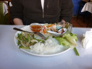 Lunch in a Vietnamese restaurant in San Francisco