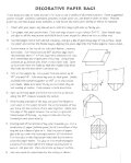 instructions for how to make a gift bag from recycled paper