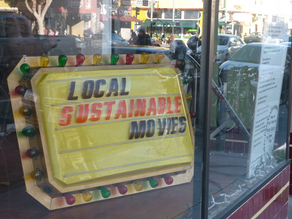 sign in window of Lost Weekend, a San Francisco video store
