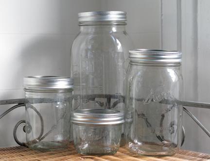 assorted Ball jars