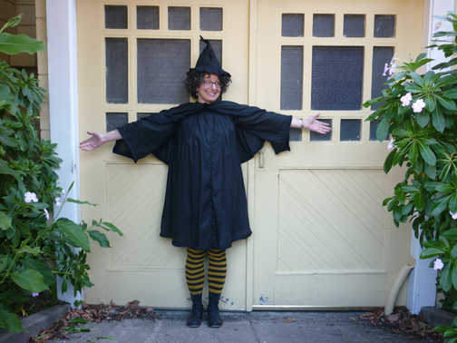 witch costume for Halloween