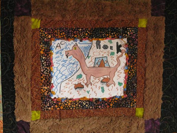 dragon quilt detail