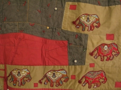 detail of elephant quilt