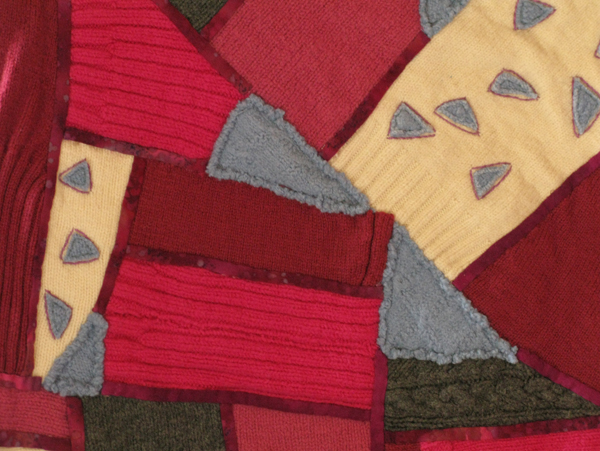 detail of sweater quilt