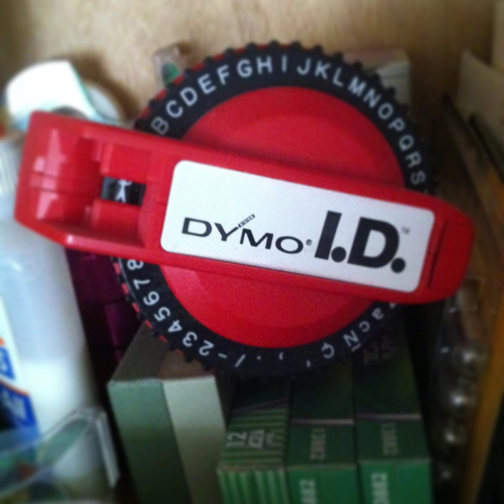 Old school Dymo label maker
